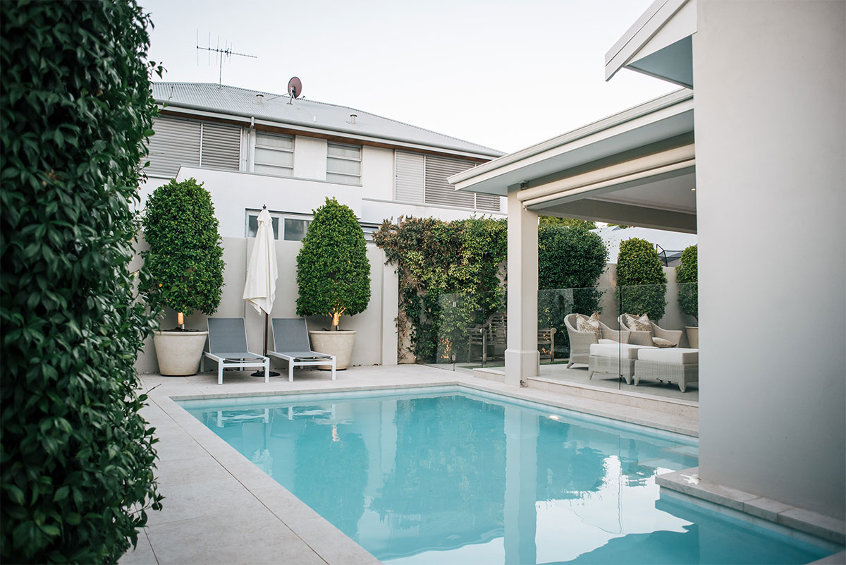 Beautiful pool landscaping in Claremont, Perth