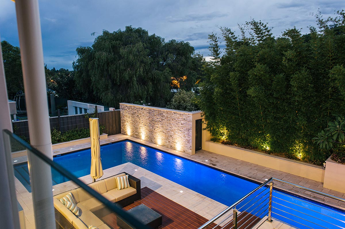 Pool lighting, pool decking and pool paving in Perth