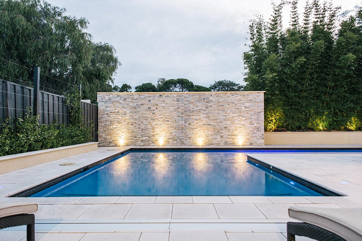Pool lighting design and layout enhances an already beautiful space