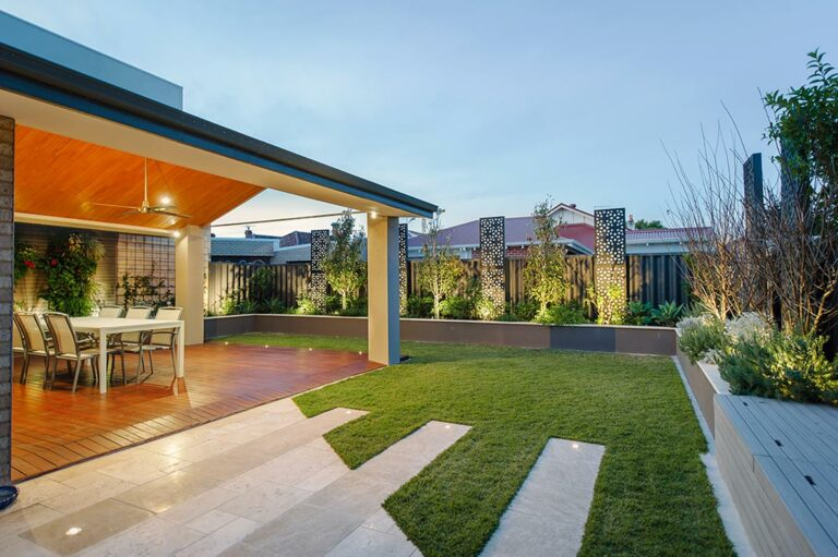 Different features and textures create a unique, interesting and stylish garden in Perth