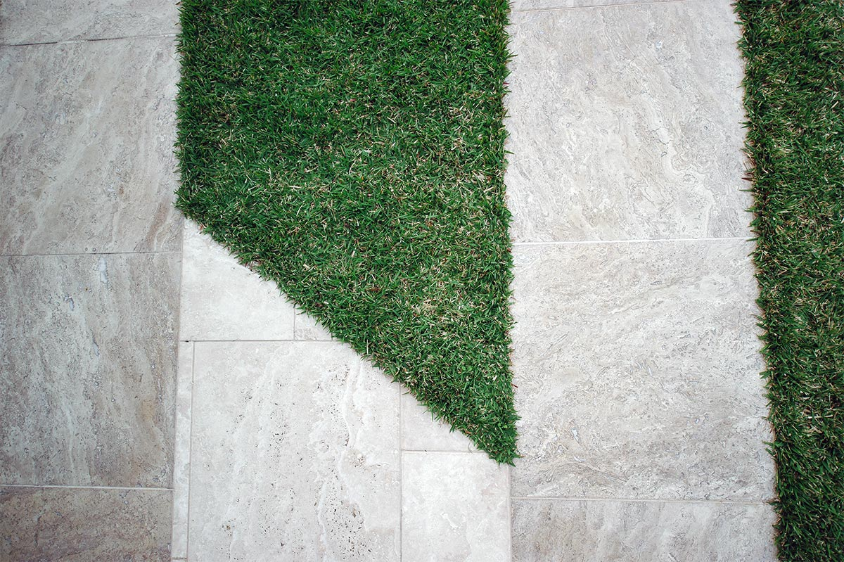 Unique style and skillful lawn installation