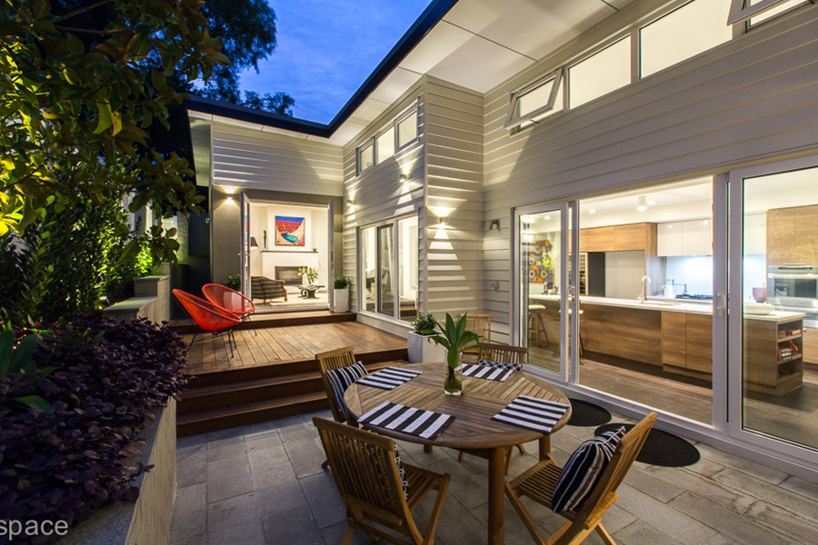 Merging the indoors with the outdoor space will make it feel much bigger