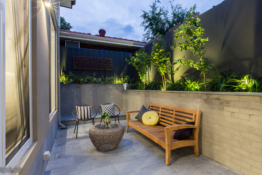 A professional landscaper can maximise the use of small spaces